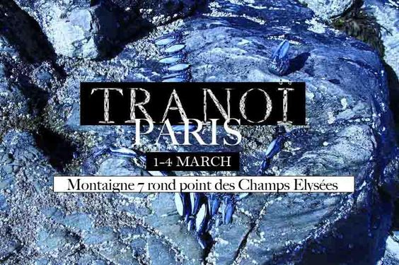 1-4 march 2013, VERNISSAGE @ TRANOI   Montaigne 7 rond point des Champs Elysées - PARIS