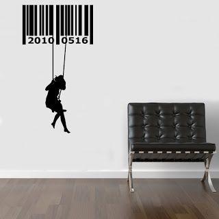 Código de barras en la pared.