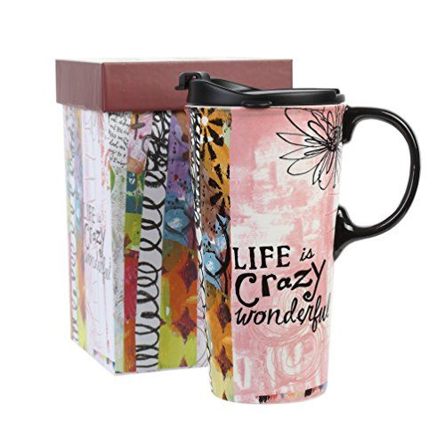 Tall 17 Oz Ceramic Travel Mug With Sealed Lid Gift Box Ce Https Smile Amazon Com Dp B075l79x1z Ref Cm Sw R Pi With Images Mugs Travel Coffee Cup Latte Mugs