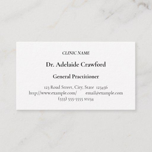 Humble Medical Specialist Business Card Zazzle Com Minimalist Business Cards Professional Business Cards Business Cards