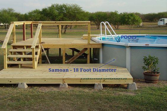 Pool Decks Above Ground Pool Decks And Above Ground Pool On Pinterest