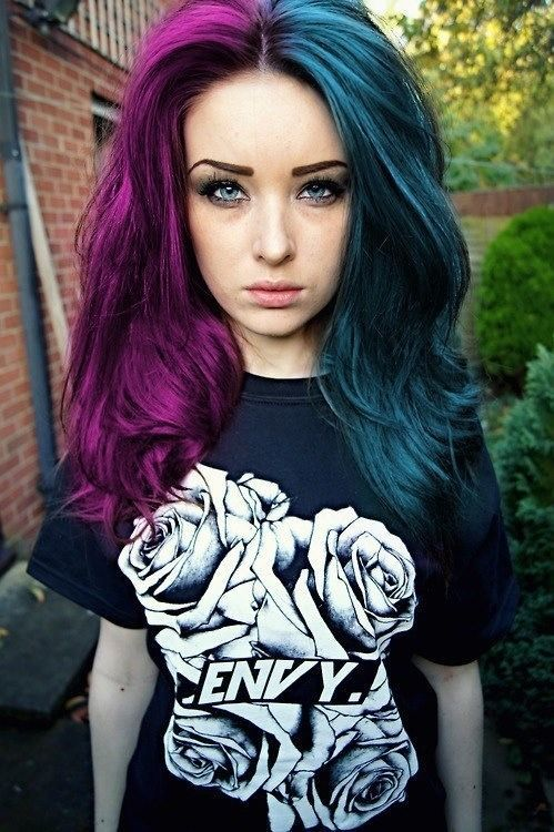 Teal Hair And Purple On Pinterest