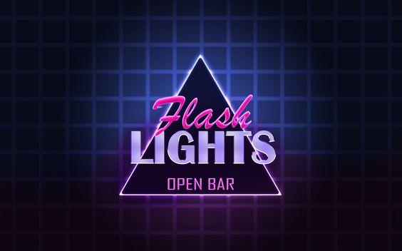 Flash Lights - projeto de identidade visual da festa