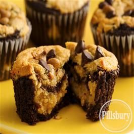 Chocolate-Peanut Butter Layered Cupcakes from Pillsbury® Baking