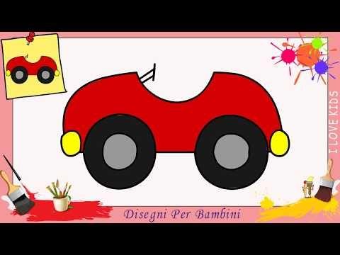 Disegni Di Auto Facili Per Bambini Come Disegnare Una Macchina Passo Per Passo Youtube Come Disegnare Disegni Facili Disegni
