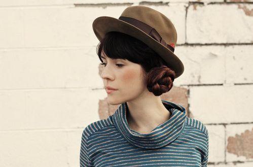 Braided Buns + hat