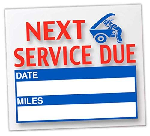 Donkey Auto Products Generic Next Service Due Reminder Stickers Oil Changes Tune Ups Tire Rotations Static Cling Reminder Stickers Static Cling Stickers