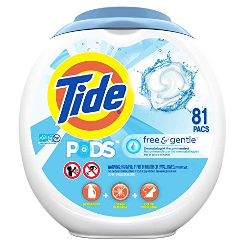 Tide Free And Gentle Laundry Detergent Pods 81 Count Unscented