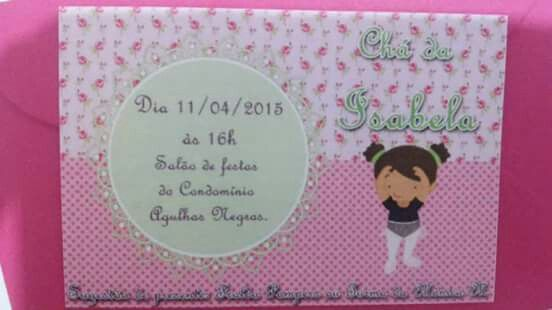 Chá da Isabela - Convite