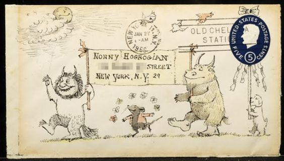 How Maurice Sendak sometimes addressed his letters.  Imagine being a child and receiving this!
