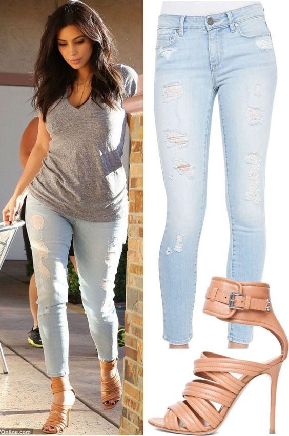 Kim Kardashian&quot- by sofi-at on Polyvore. Adding heels dresses up a ...