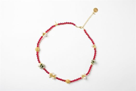 Picture of ROSARY NECKLACE WINE