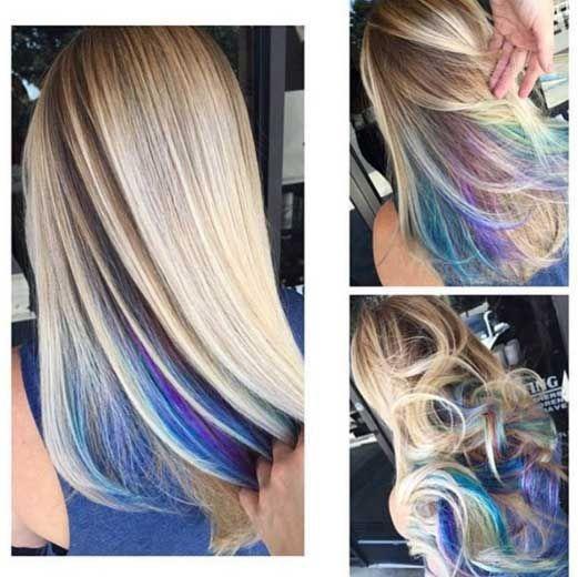 Arcoiris oculto, la tendencia para las que temen el pelo de colores