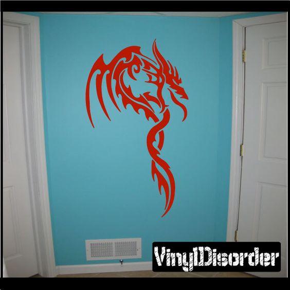 Dragon Wall Decal - Vinyl Decal - Car Decal - CF23038