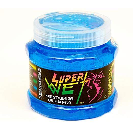 Amazon Com Super Wet Hair Styling Gel Blue 8 8 Oz Gel Fija Pelo Hair Care Styling Products Beauty Styling Gel Hair Gel Wet Hair