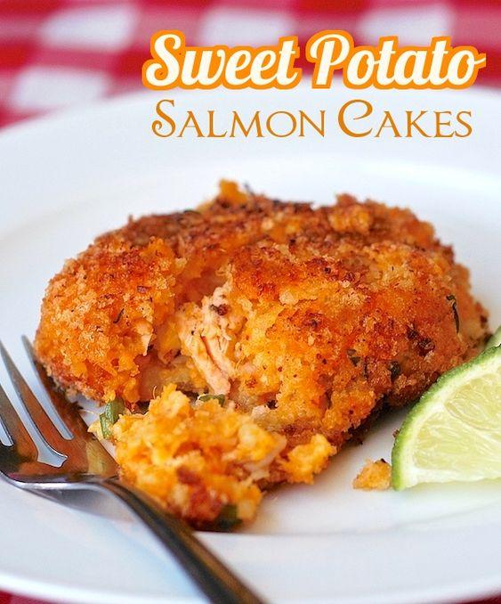 Sweet Potato Salmon Cakes - salmon and sweet potato mash come together ...