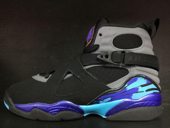 nouvelles chaussures nike de lutte - Air Jordan 8 Retro 'Aqua' Remastered GS   sneaker crazy ...