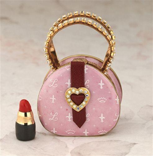 Limoges Round Pink Handbag Box