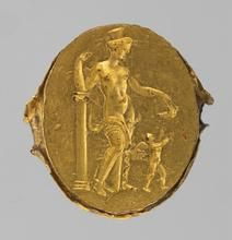 Finger ring with engraving: Venus and Cupid | 4 | - 3rd Century BC |Hellenistic