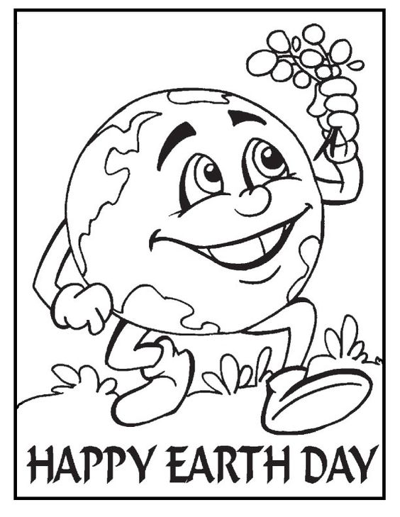 Earth Healthy And Green coloring picture for kids