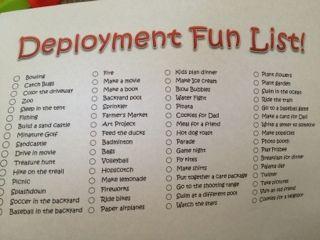 Beyond the Cammies: Deployment Fun List