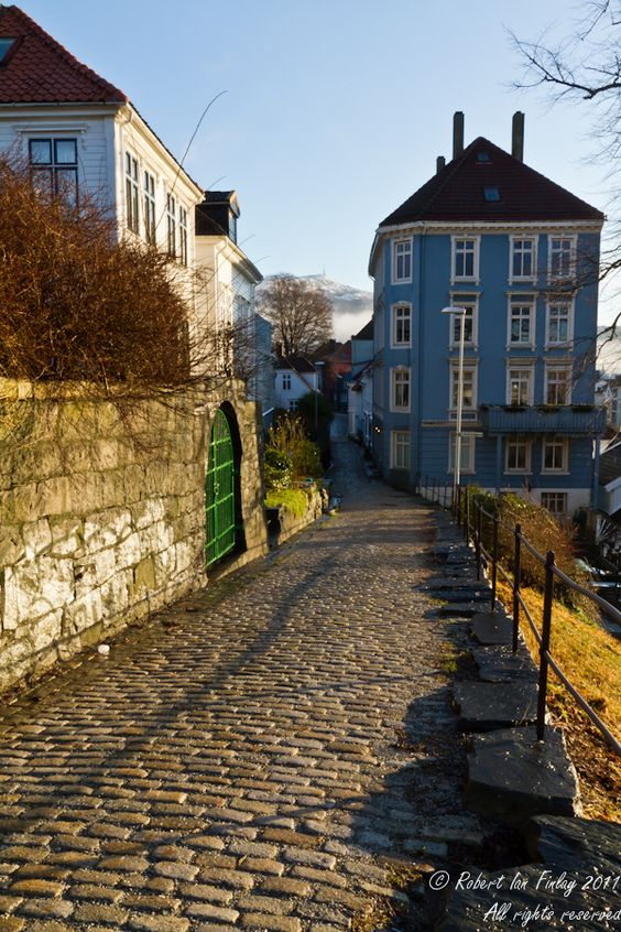 This is the road I walked home from meditation class each Tuesday when I studied in Bergen, Norway