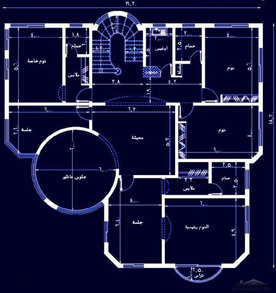 تصميم فيلا دورين وملحق مساحة الارض 25 25 متر Beautiful House Plans House Construction Plan House Design Pictures