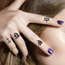 tatouages pour les doigts: