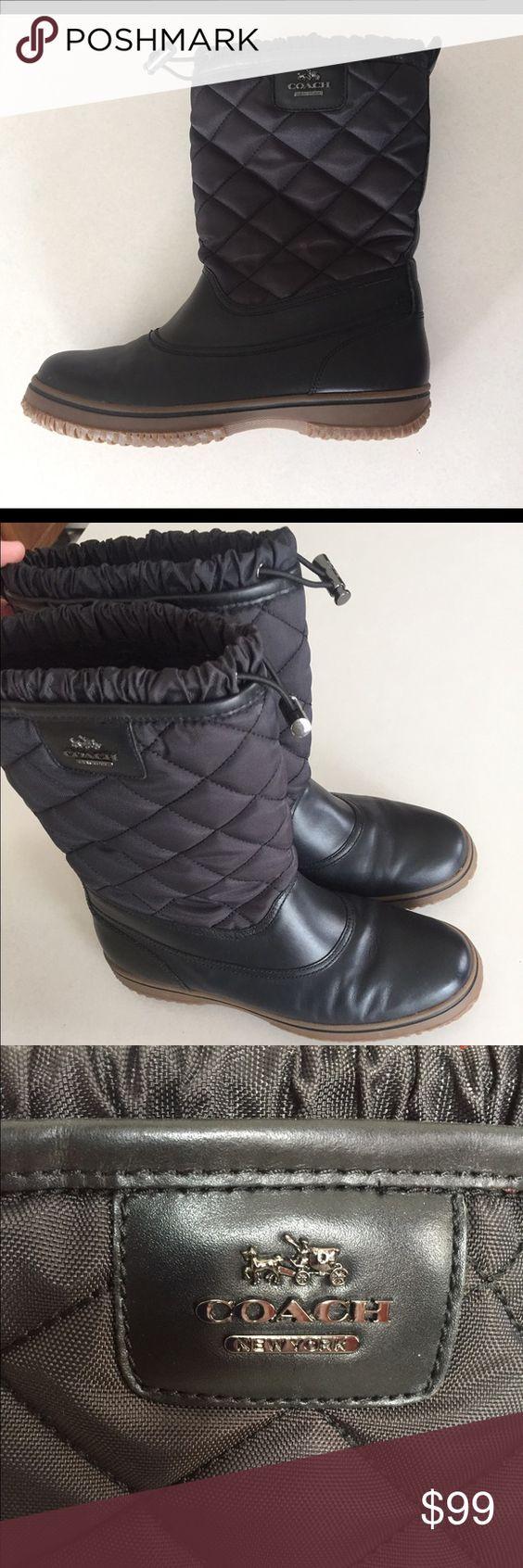 Coach Women's Sparrow Black Synthetic/Rubber Boots black coach ...