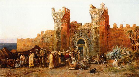 """Edwin Lord Weeks. """"Puerta de Shehal, Marruecos"""""""