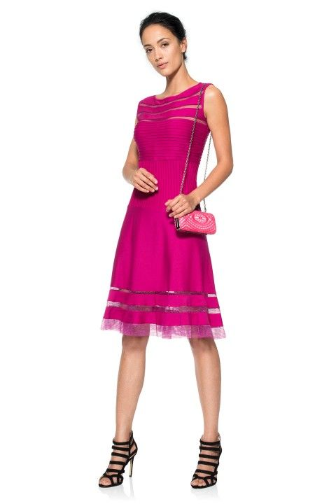 Hot Pink cocktail dress - elegant day wear For more fabulous ...