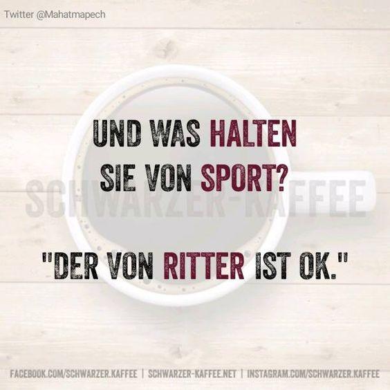 Und was halten Sie von Sport? Der von Ritter ist Ok.