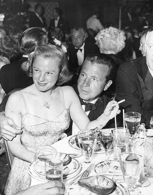 june-allyson:   June Allyson and Dick Powell, 1951