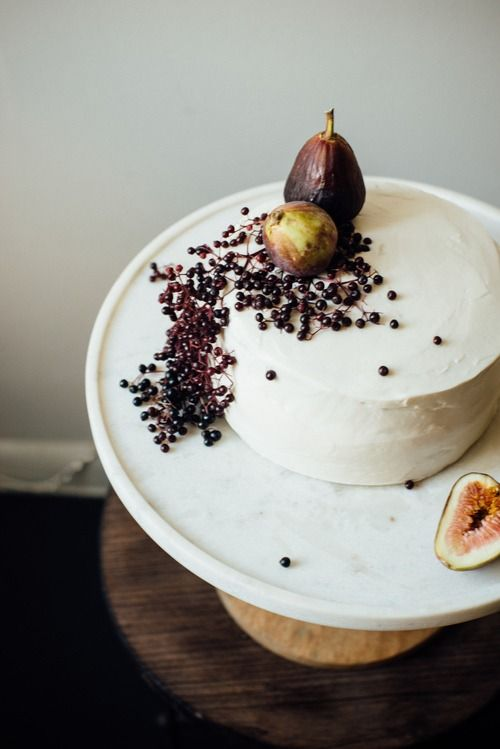 Hazelnut Cake with Fig Compote