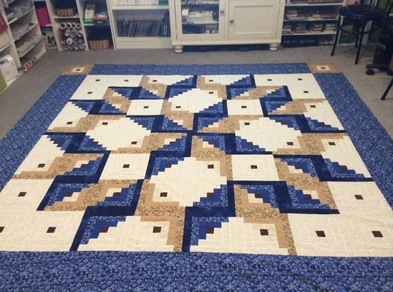Log Cabin Carpenter Square Pattern Quilts Quilts