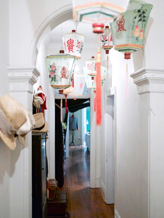 chinese silk lanterns, via the design files / sfgirlbybay