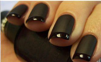 black on black french mani! <3 <3 <3 it!!