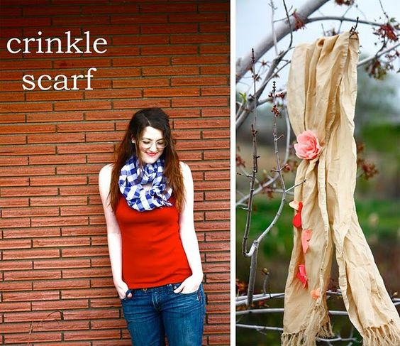 Crinkle scarf: Sewing Projects, Diy Crafts, Sewing Crafts, Diy Tutorials, Sewing Craft Ideas, Fabric Crafts, Sewing Ideas Tutorials, Scarves Tutorials