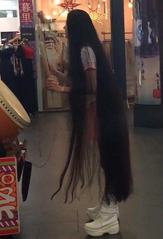 Video Following Rin Around Long Hair Play Long Hair Styles Beautiful Long Hair