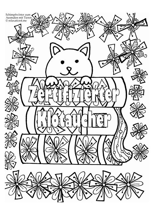 Pin Auf Kostenlos Zum Selber Machen Anti Stress Fluch Und Schimpfmalbuch Fur Erwachsene Schimpfworter Zum Ausmalen Tiere Blumen Lustige Mandala