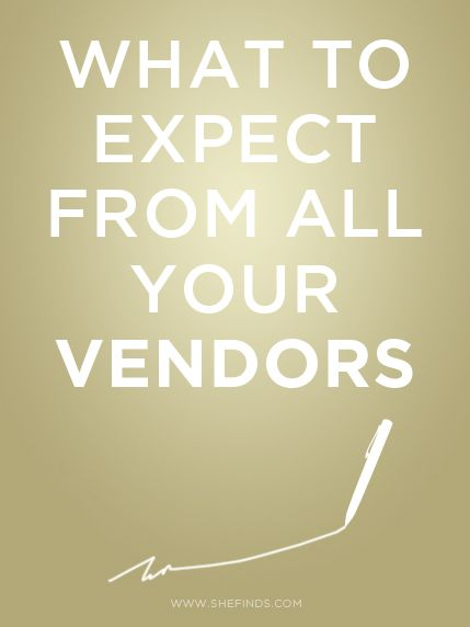 What To Expect From All Your Wedding Vendors #important