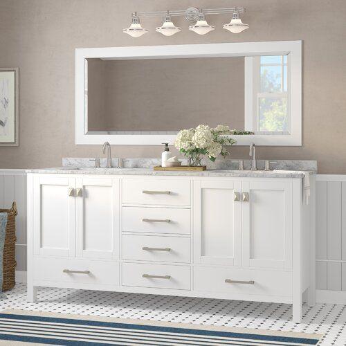 Pichardo 78 Transitional Double Bathroom Vanity Set Double Sink