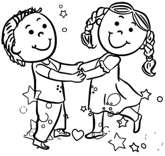 dancing girls coloring pages - photo#42