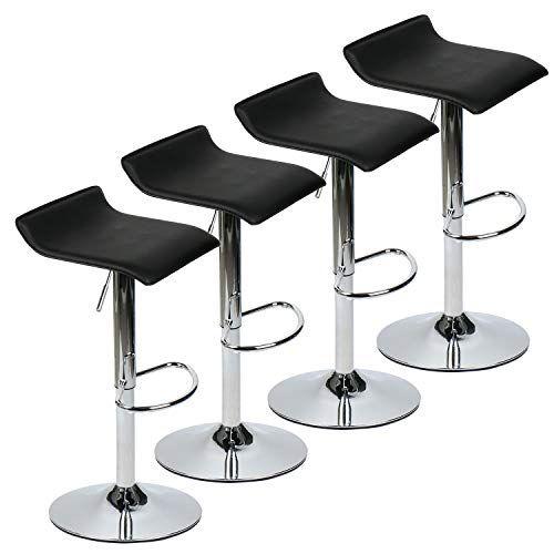 Yourliteamz Modern Swivel Adjustable Home Barstools Set Of 4 For