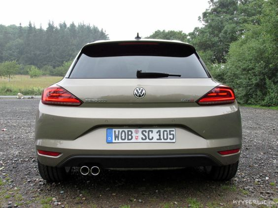 der neue Volkswagen Scirocco (Facelift) in Pyramid Gold