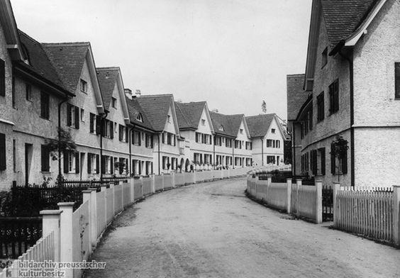 Row Houses In The Garden City Of Hellerau C 1910 The