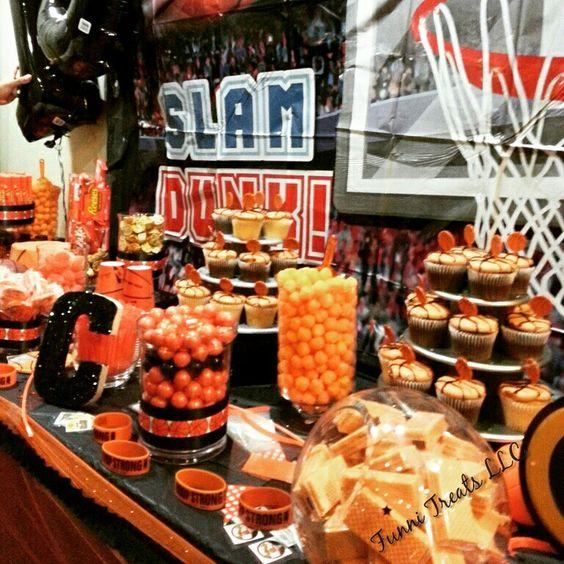 Birthday Party Buffet Table: Basketball Candy Buffet! Funni Treats LLC.