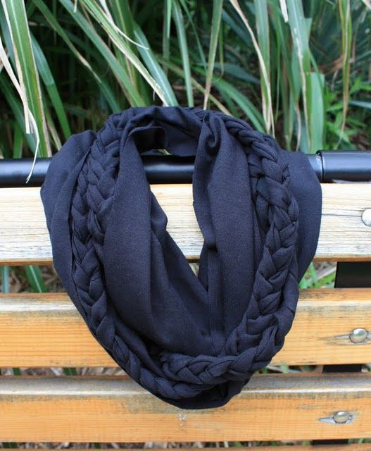 Jersey scarf with braid, instructions!