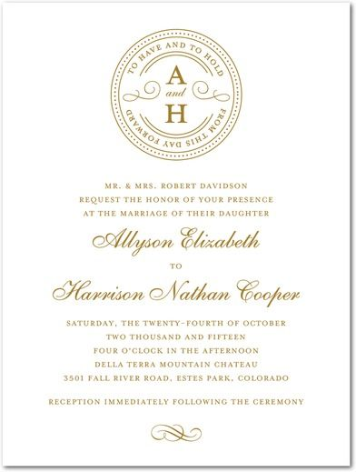 Centrally Sealed - Engraving Wedding Invitations - simplyput by Ashley Woodman - ENG Charcoal - Gray : Front