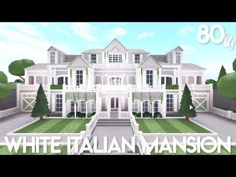 Bloxburg White Italian Mansion Exterior Speed Build Youtube In 2020 Italian Mansion Mansions Two Story House Design